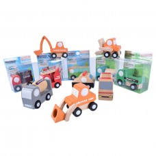 3 Packs Of Wooden Toy Vehicles