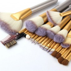 24-Piece Make-Up Brush Sets with Roll Case