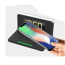 3-in-1 Alarm Clock, LED Night Light & QI Wireless Charger