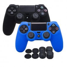 Anti-Slip Silicone Cover for PS4 /Slim/PRO Controller +  8 x PRO Thumb Grips