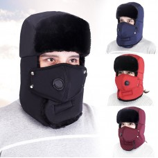 3 in 1 Unisex Winter Trapper Fur Style Hat With Mask