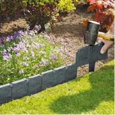 Stone Effect Lawn Grass Edging - 2.5 Meters