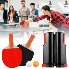 Play On Any Table - Retractable Table Tennis Set