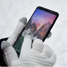 Cashmere Wool Knitted Gloves With Touch Screen