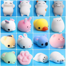 3 Pack of Adorable Mini Squishy Stretchy Stress Relief Characters