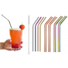 Eco Friendly Re-usable Stainless Steel Drinking Straws