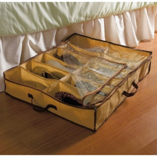 12 Compartment Under Bed Shoe Organiser