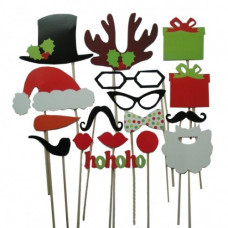 17pc Fesitive Christmas Photo Props Pack
