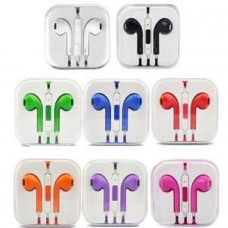 Colourful Apple Compatible Handsfree Earbud Headphones With Mic