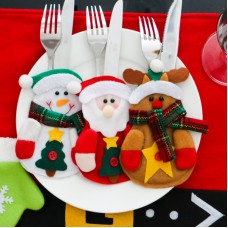 Christmas Character Cutlery Holders