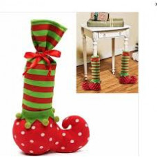 Pair of Novelty Elf Stocking & Chair Leg Covers