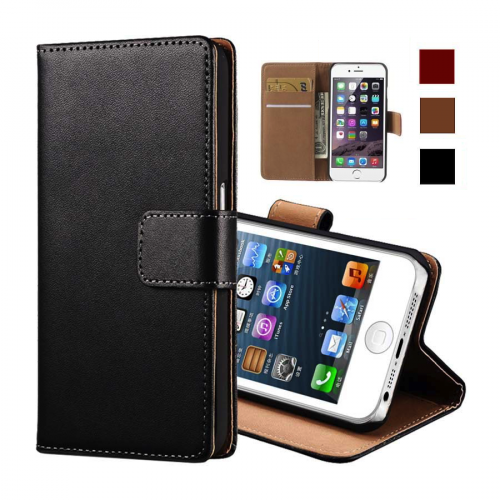 Vegan Leather iPhone Case with Card Wallet Slots & Stand